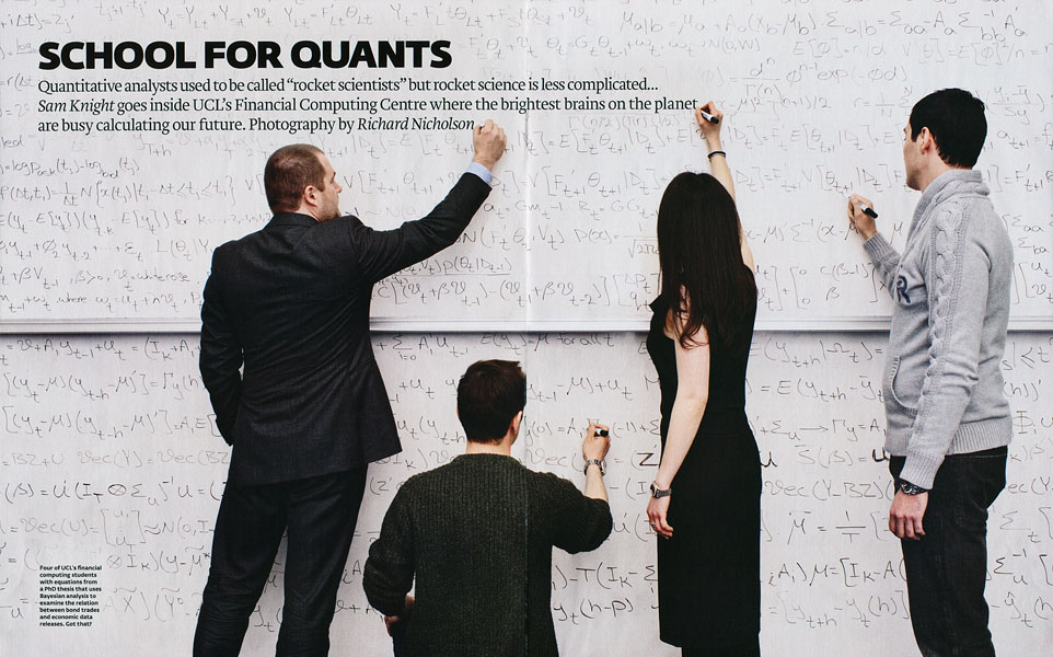 Quants at The Financial Computing Centre, UCLFinancial Times Magazine